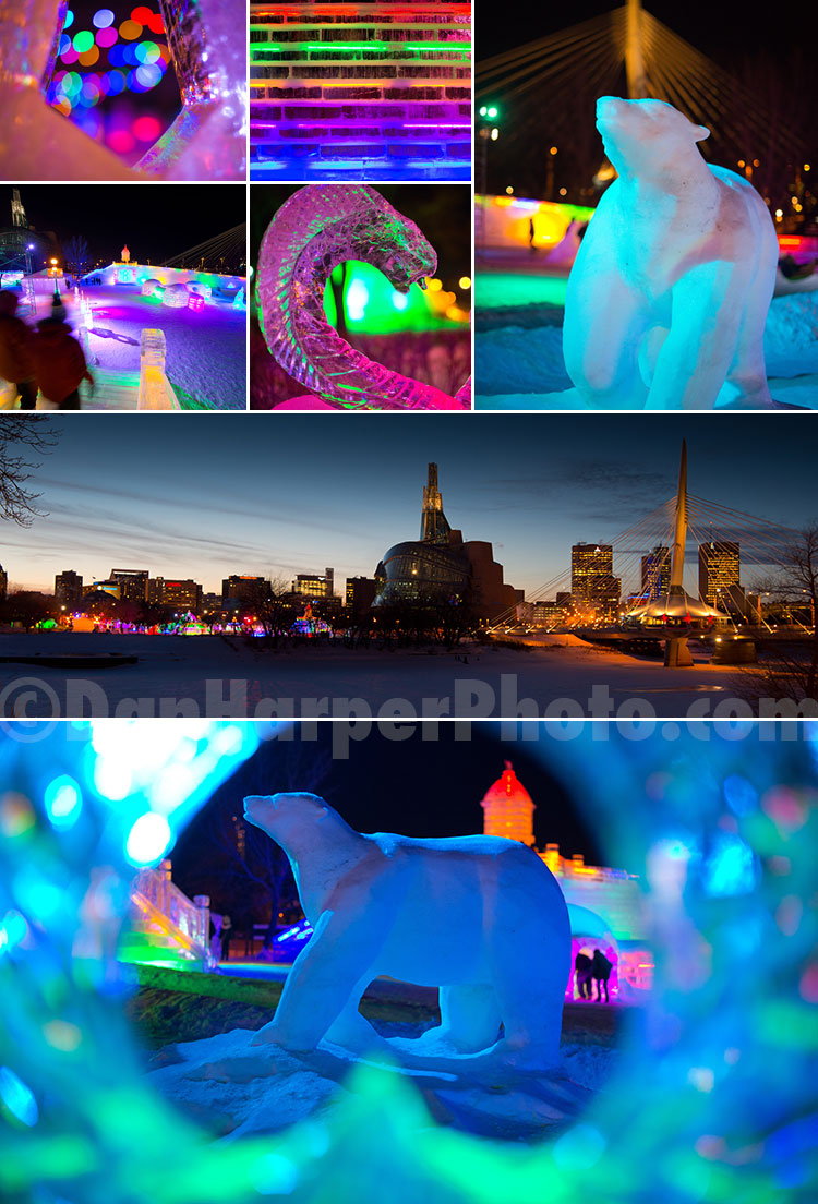The Great Ice Show @ The Forks, Winnipeg stock photography