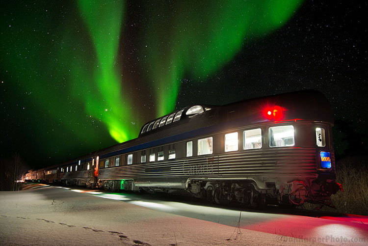 VIA Rail & Frontiers North Adventures northern lights
