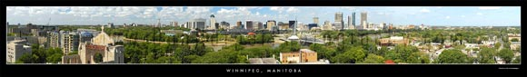 winnipeg panoramic stock photography