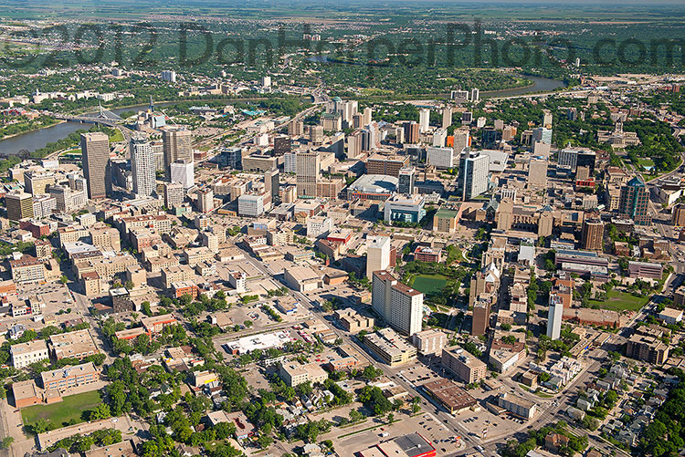 Winnipeg helicopter stock photography