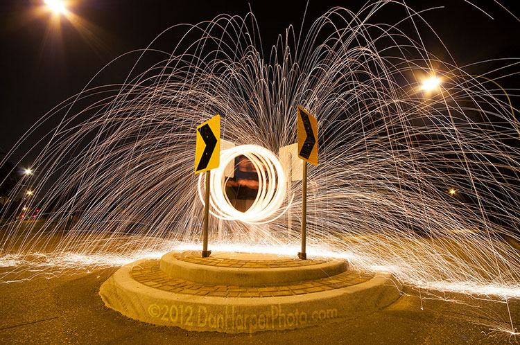 Steel wool long exposure