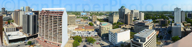 Gigapixel image of Winnipeg, Manitoba downtown