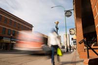 Osborne Village, Winnipeg, Manitoba stock photo